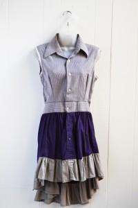 Shirt Dress Purple Stripe4