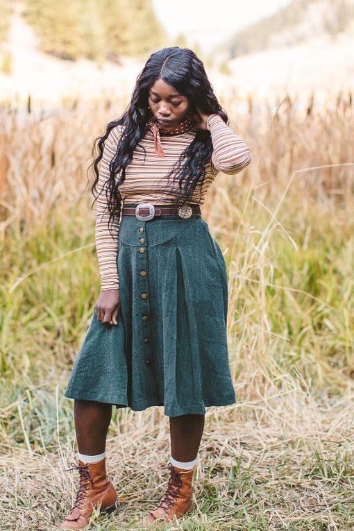 vintage looking prairie riding skirt