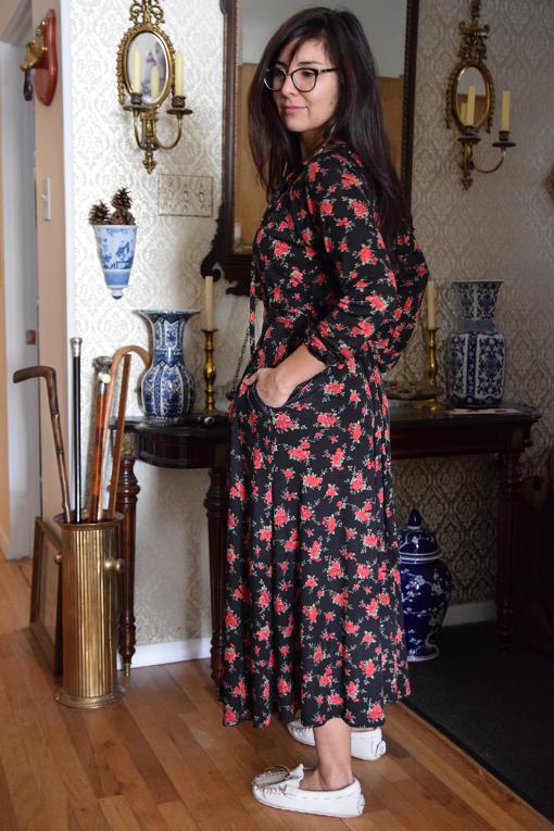 Rose Prairie Dress Handmade Modern Vintage