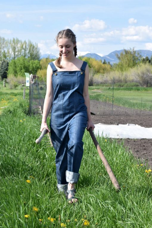 American made durable denim overalls