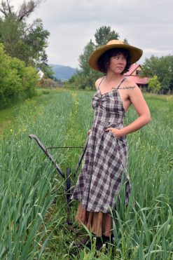 Plaid Prairie Cotton Dress Made in USA