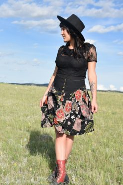 prairie skirt in blossom floral pockets