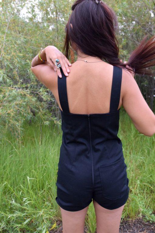 Short Black Overalls Handmade