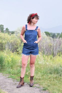 American Made Denim Short Overalls