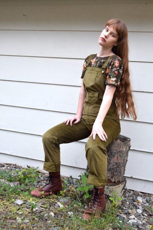 retro corduroy overalls
