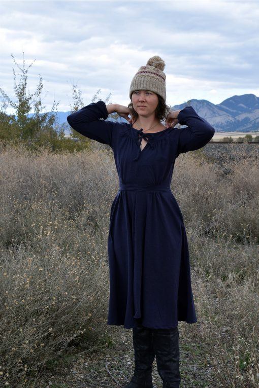 merino wool prairie dress