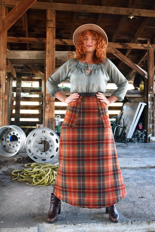 Handmade wool skirt