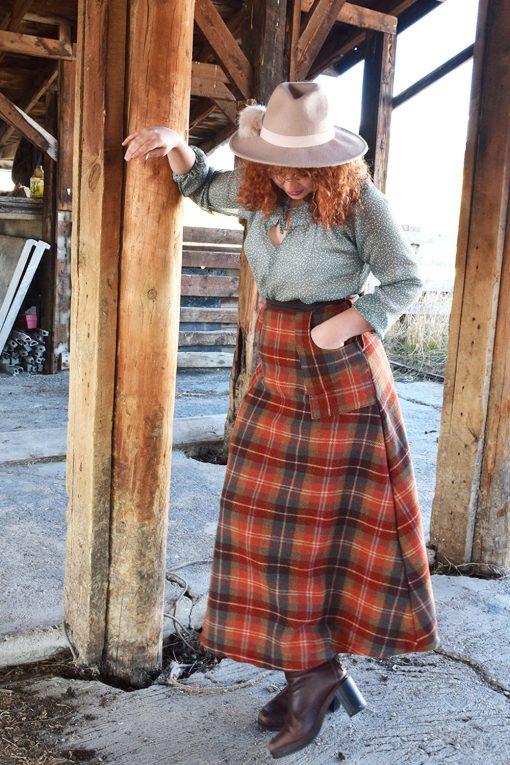 vintage wool skirt handmade