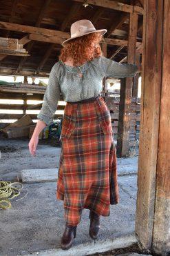 handmade long wool skirt