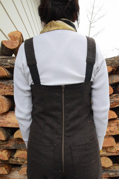 Brown Wool Overalls