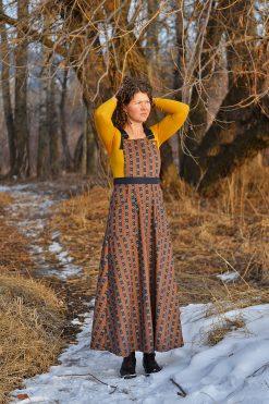 Cotton Pinafore Apron Dress