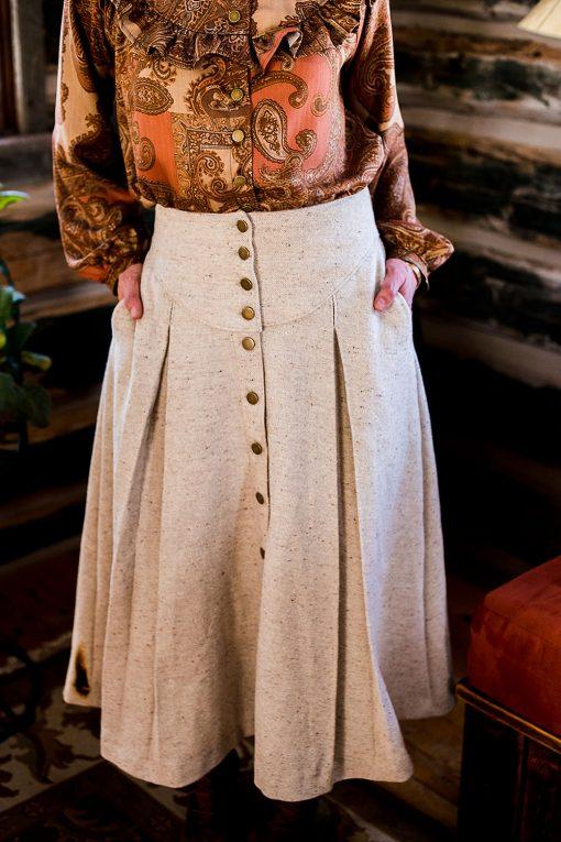 wool prairie skirt
