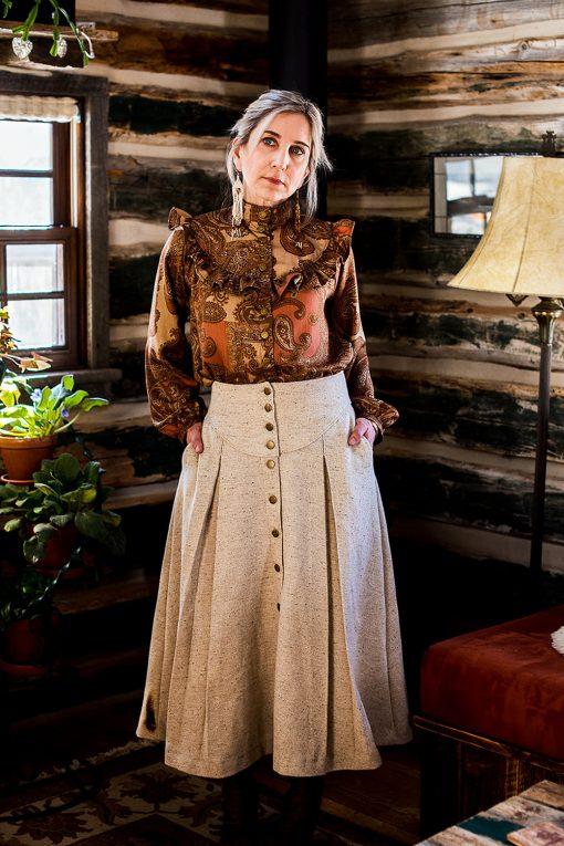 wool riding skirt