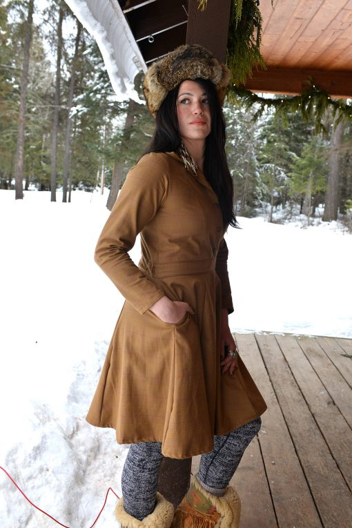 Vintage style long sleeve shirt dress
