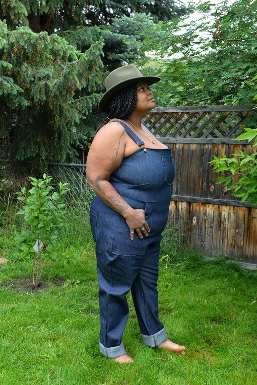 plus size denim overalls