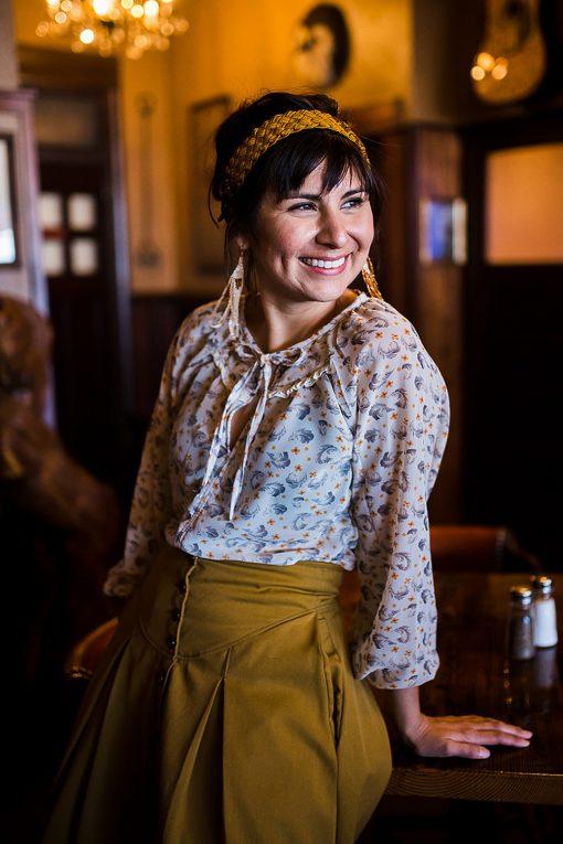 Romantic peasant blouse