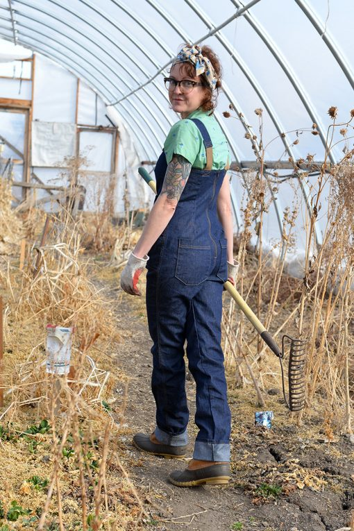 womens work overalls made in USA