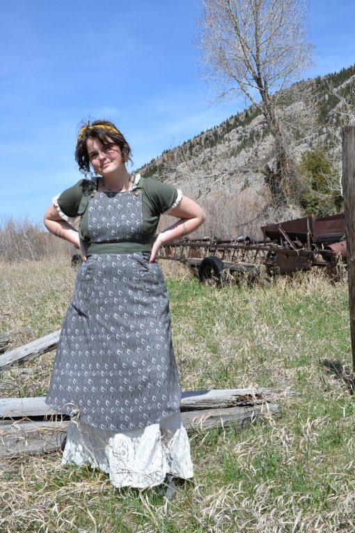 petticoat, pinafore, vintage prairie clothing