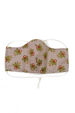 vintage fabric face mask