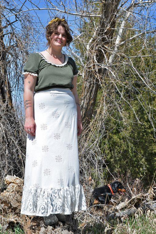 vintage cotton handmade petticoat