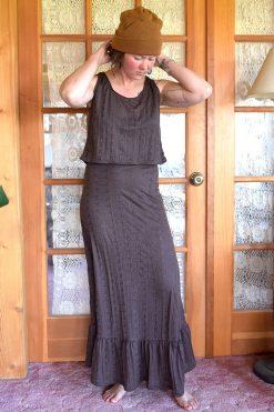 vintage style brown cotton petticoat