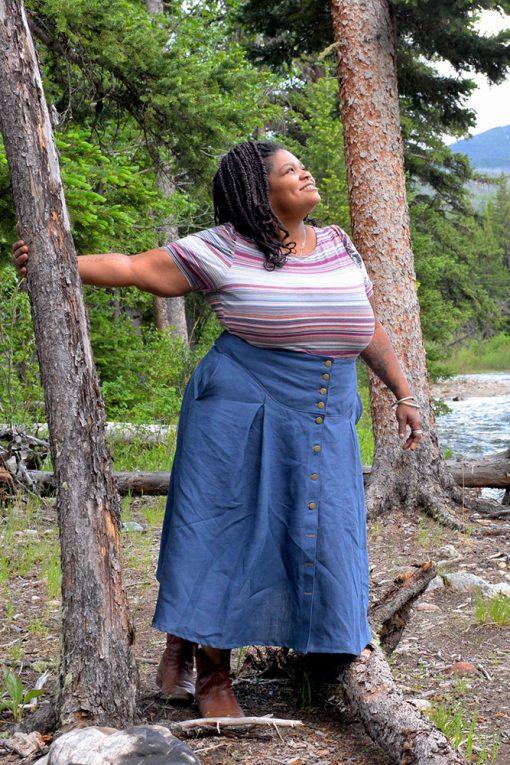 plus size linen skirt american made