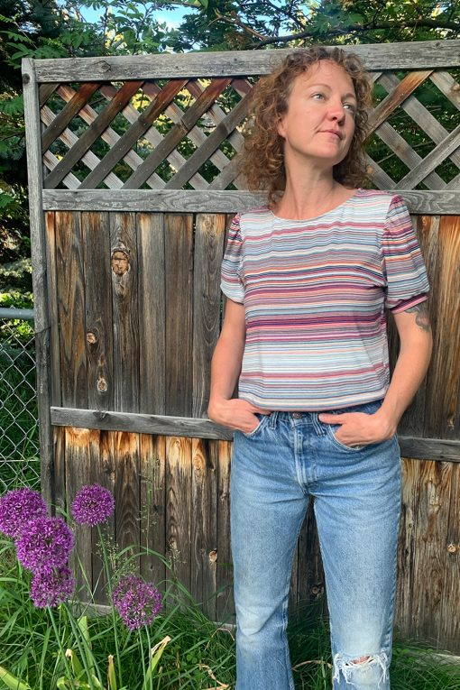 70s stripe tee shirt