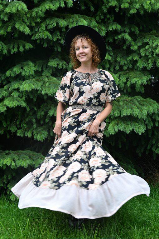Romantic maxi prairie dress