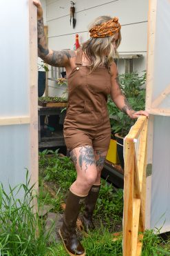 American made womens farm overalls