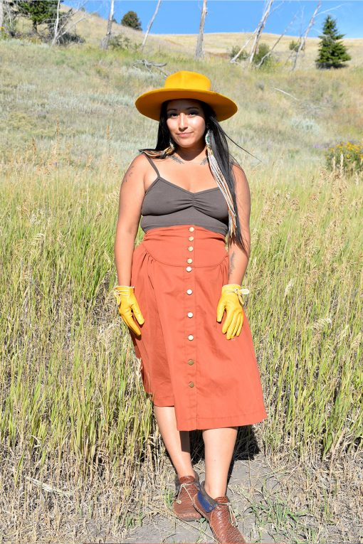 hemp bralette and riding skirt