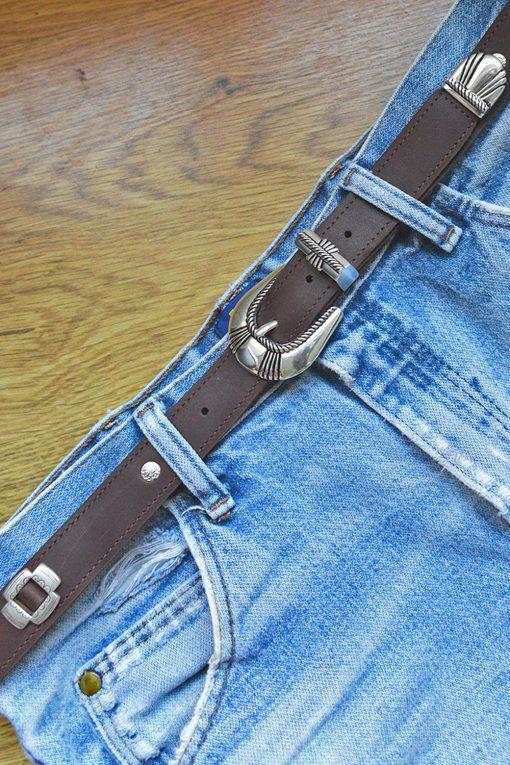 southwestern leather belt