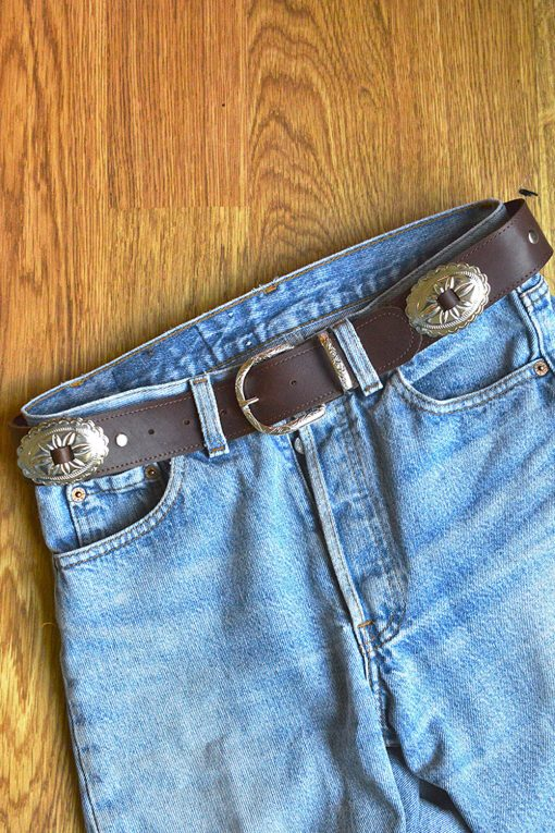 western leather concho belt