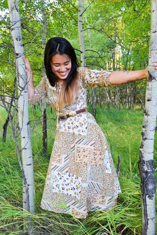 70s quilt dress