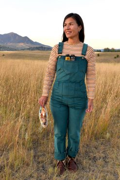 American made corduroy overalls