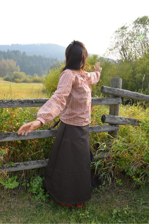 american made cotton peasant blouse