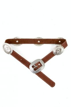 leather western concho belt