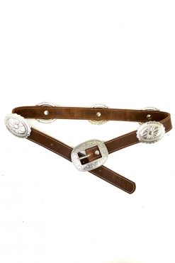 western concho belt leather
